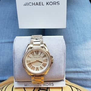 NWT michael kors gold bling watch